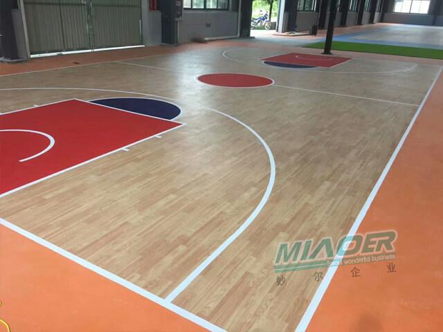枫木运动地板篮球场
