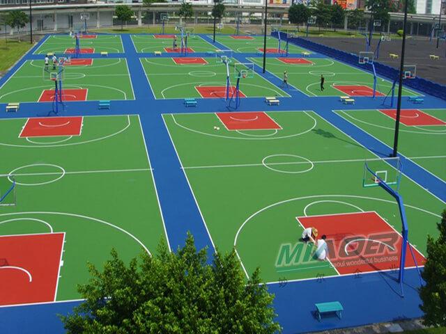5mm硅pu篮球场